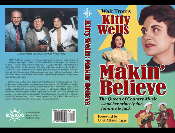 Cover for Kitty Wells biography, published by Nova Books